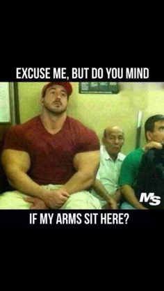 Gym funny, big arms