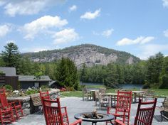 high hampton inn   High Hampton Inn & Country Club: Terrace lounge and Rock Mountain.
