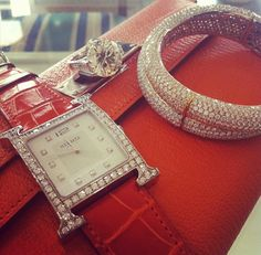 Hermes and diamonds, a perfect match ~ Instagram