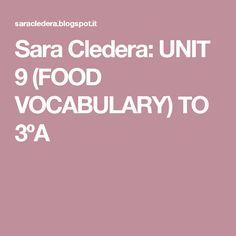 Sara Cledera: UNIT 9 (FOOD VOCABULARY) TO 3ºA