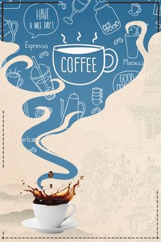 More than 3 million PNG and graphics resource at Pngtree. Find the best inspiration you need for your project. Design Café, Crea Design, Coffee Poster, Coffee Art, Cafe Posters, Food Poster Design, Drink Menu Design, Coffee Prices, Coffee Shop Logo