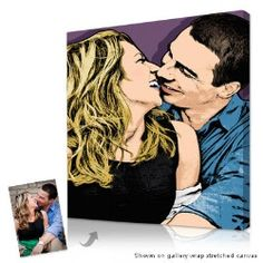 Gift Idea: 1st Year Anniversary Gift - Hand illustrated portraits from your photos
