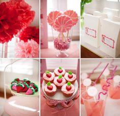 Cherie M's Birthday / - Strawberry Shortcake Party at Catch My Party Strawberry Shortcake Birthday, Vintage Strawberry Shortcake, Strawberry Lemonade, Strawberry Ideas, 2nd Birthday Parties, Birthday Ideas, Themed Parties, Birthday Recipes, Happy Birthday