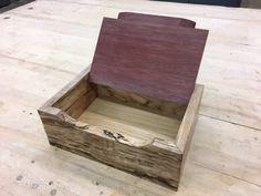 Spaltic Maple Box w/ Purple Heart Lid by ColoradoWoodWorker on Etsy