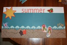 Summer Scrapbook Pages | Summer Fun 12 x12 Scrapbook Pages
