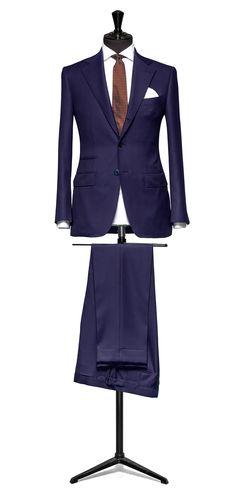 Blue suit Plain S110 http://www.tailormadelondon.com/shop/tailored-suit-fabric-4329-plain-blue/