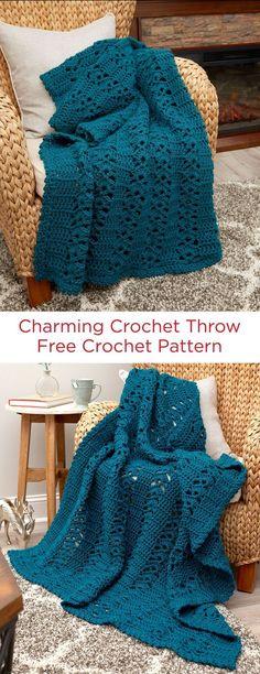 Charming Crochet Throw Free Cr