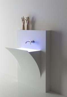 Corian® washbasin Fuori_Strappo by Antonio Lupi Design® | #design Domenico De Palo @antoniolupispa