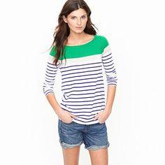 cashmere boatneck stripe sweater