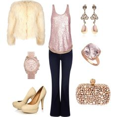 winter white and pink