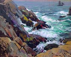 """Monhegan Island,"" William Lester Stevens, oil on canvas, 25 1/4 x 30 1/2"", Pierce Galleries."