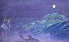 Oirot Messenger of the White Burkhant - Nicholas Roerich  1925