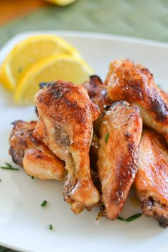 Enjoy these honey lemon chicken wings with family and friends on Superbowl Sunday.