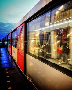 Signal is green. Metro is accelerating. Off into the night. | by Robert Diel