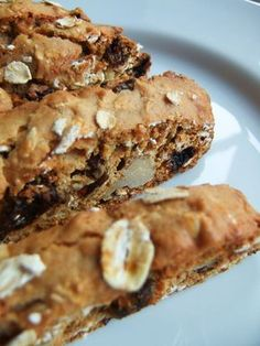 Mood Buster Oatmeal Raisin Cookie Biscotti