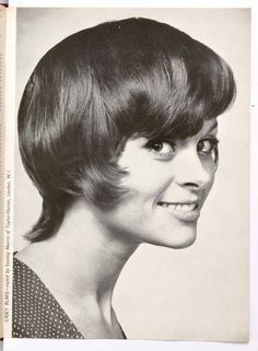 Vintage women's hairstyle from HJ dating back to the 1960s.