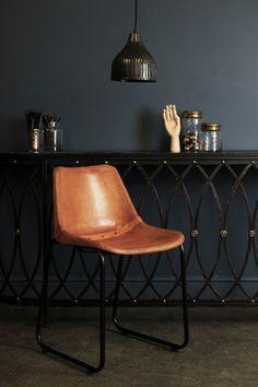Relax into these comfortable and stylish leather dining chairs Ideal for use around a dining table this is seating that will make an impact The chair