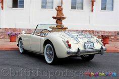 1961 MGA - my oldest brother had one like this. Vintage Sports Cars, British Sports Cars, Retro Cars, Vintage Cars, Antique Cars, Montage Photo, Classy Cars, Cabriolet, Future Car