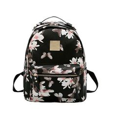 Для женщин кожаный рюкзак с цветочным принтом Рюкзаки для подростков Обувь для девочек маленький печать рюкзак женский школьный рюкзаки для Обувь для девочек