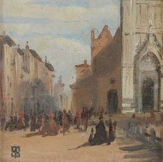 """""""Piazza Santa Croce"""" 1956/58, Telemaco Signorini"""