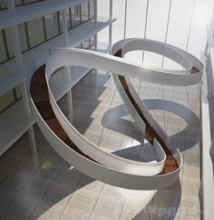 EeStairs Competition Winners Announced,Möbius, Winner Corporate Staircase Category. Image Courtesy of Ee Stairs - Gallery of EeStairs Competition Winners Announced - 1 Stairs Architecture, Futuristic Architecture, Beautiful Architecture, Contemporary Architecture, Architecture Details, Interior Architecture, University Architecture, Architecture Student, Classification Des Arts