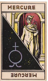 Cartas do Destino: Destino e Tarô: Tarot Astrologique - A Carta  Merc...