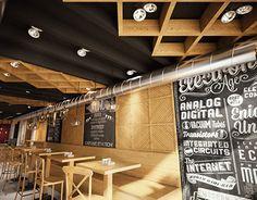 Aleksandar Brankovic on Behance Interior Architecture, Behance, Restaurant, Architecture Interior Design, Interior Designing, Diner Restaurant, Restaurants, Dining