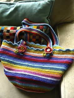 Colourful stripes bag
