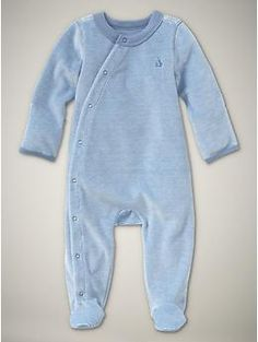 boys striped velour blue  up to 7 lbs