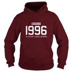 3 1996 March Star was born T Shirt Hoodie Shirt VNeck Shirt Sweat Shirt Youth Tee for womens and Men