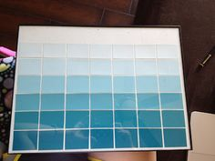 Ombre Dry Erase Calendar - Miss V's Busy Bees
