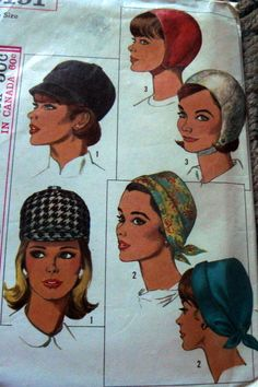 MOD VTG 1960s HATS Sewing Pattern