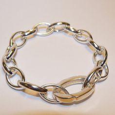 Zilveren massieve schakelarmband. van Atelier925 op Etsy