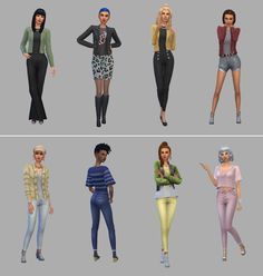 Netz-à-porter – outfits ready to wear for your sims (no CC required) - Page 12 — The Sims Forums Sims 4 Cas, My Sims, 60s Mod Fashion, Sporty Fashion, Ski Fashion, Fashion Women, Winter Fashion, The Sims 4 Packs, Sims 4 Characters