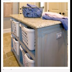 Laundry room island. Such a good use of space and great idea!
