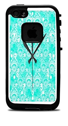 Trendy Accessories Elegant Vintage Teal Turquoise Lace Damask Pattern Wall Clocks Print Image Vinyl Decal Sticker for iPhone 4/4S Lifeproof Case Trendy Accessories http://www.amazon.com/dp/B00WANEIDK/ref=cm_sw_r_pi_dp_QyOIvb1P4S66S