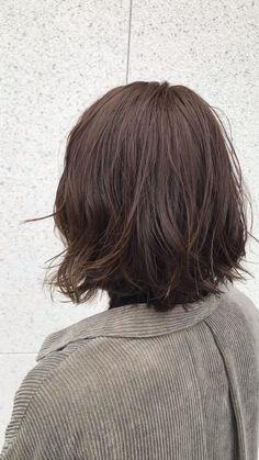 8トーンの髪色です Short Hair Cuts For Round Faces, Round Face Haircuts, Medium Bob Hairstyles, Easy Hairstyles, Dark Brunette Hair, Half Up Half Down Hair, Pink Hair, Hair Care, Hair Color