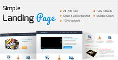 Simple Landing Page by Zenork OverviewThis Template is special created for small business and start-ups. In this template youll find Corporate/Professional Design and elements which are easy to editable, scalable and very crispy. Also you can easily change co