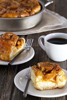 Caramel apple cinnamon rolls.