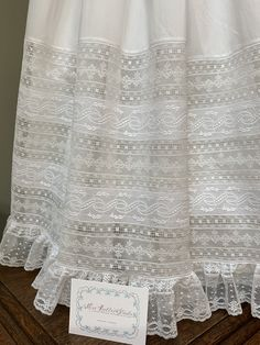 First Communion Dresses, Baptism Dress, Christening Gowns, Sewing Lace, Hand Sewing, Frocks And Gowns, Blessing Dress, Lace Doilies, Heirloom Sewing