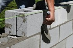 Concrete Projects, Concrete Blocks, Concrete Wall, Brick Wall, Cinder Block Walls, House Foundation, Pole Barn Homes, Building Systems, Construction