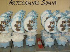 Centros De Mesa Sencillos Para Baby Shower De Niño   Imagui