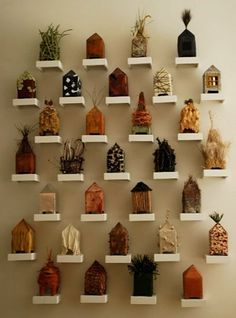 Ross Riley: Swamp Modern- Baton Rouge, LA love the idea of making different versions of the same concept/object and size. Great back story, too.love the idea of making different versions of the same concept/object and size. Great back story, too. Clay Houses, Ceramic Houses, Miniature Houses, Bird Houses, Paper Houses, Atelier Architecture, Pottery Houses, Arts And Crafts, Diy Crafts