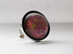 Janimie - Fairytale Pink Flower Resin ring E13.95