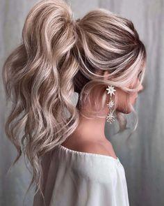 Ponytail Bridal Hair, Bridesmaid Ponytail, Wedding Ponytail Hairstyles, Oval Face Hairstyles, Wedding Hairstyles For Long Hair, Boho Wedding Hair, Party Hairstyles, Scarf Hairstyles, Homecoming Hairstyles