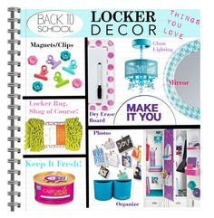 """Decorate Your Locker"" by grapecrush ❤ liked on Polyvore featuring interior, interiors, interior design, home, home decor, interior decorating, Dot & Bo, Mead, Converse and BackToSchool"