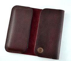 Best fit Motorola Nexus 6. This case is made from vegetable tanned dark red leather tanned in Italy. This Motorola Nexus 6 wallet case is for those who prefer a luxurious full-grain leather case. Can hold credit or business cards. Our leather: Few words about our leather - Only thick Full Grain Leather that ages richly, not weaker Top Grain, Genuine or Bonded leather. Production:Tanning - Only expensive fully tanned leather (not partially tanned), so it wont dry and crack in only a few…
