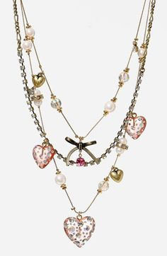 Betsey Johnson Multistrand Necklace available at #Nordstrom ..... another pick for bridesmaid gifts