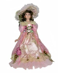 Gracie victorian porcelain doll is a beautiful Victorian doll from house of Dolls. This stunning victorian doll makes a great gift for someone you love. Gothic Dolls, Victorian Dolls, Gothic Lolita, Madame Alexander, Beautiful Dolls, Beautiful Dresses, Chibi, Porcelain Insulator, Indian Dolls