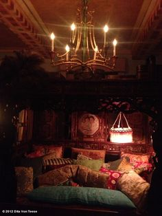 "Dita Von Teese's photo of the inside of La Maison Cointreau in NYC - her words, ""It's exquisite!"""